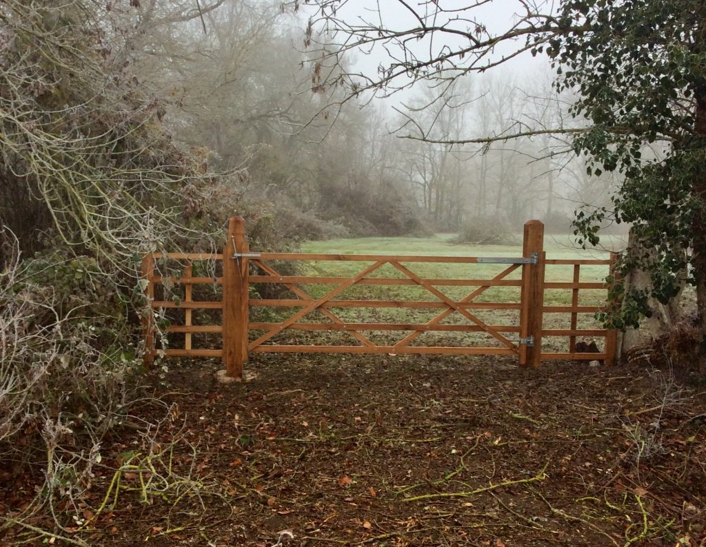 Oak Gates And Fencing In South West France Charente Oak